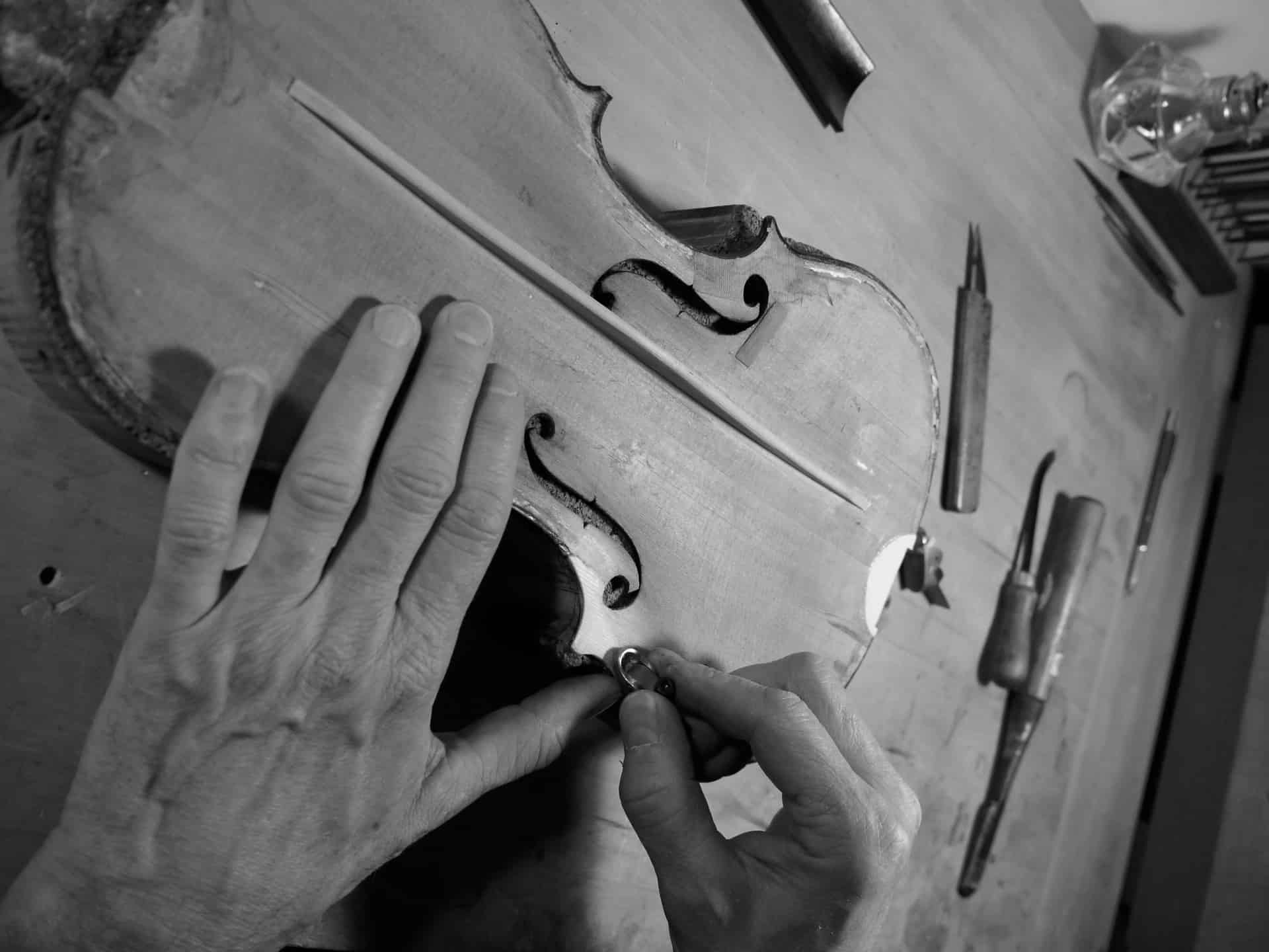 Working hard on a violin - New York