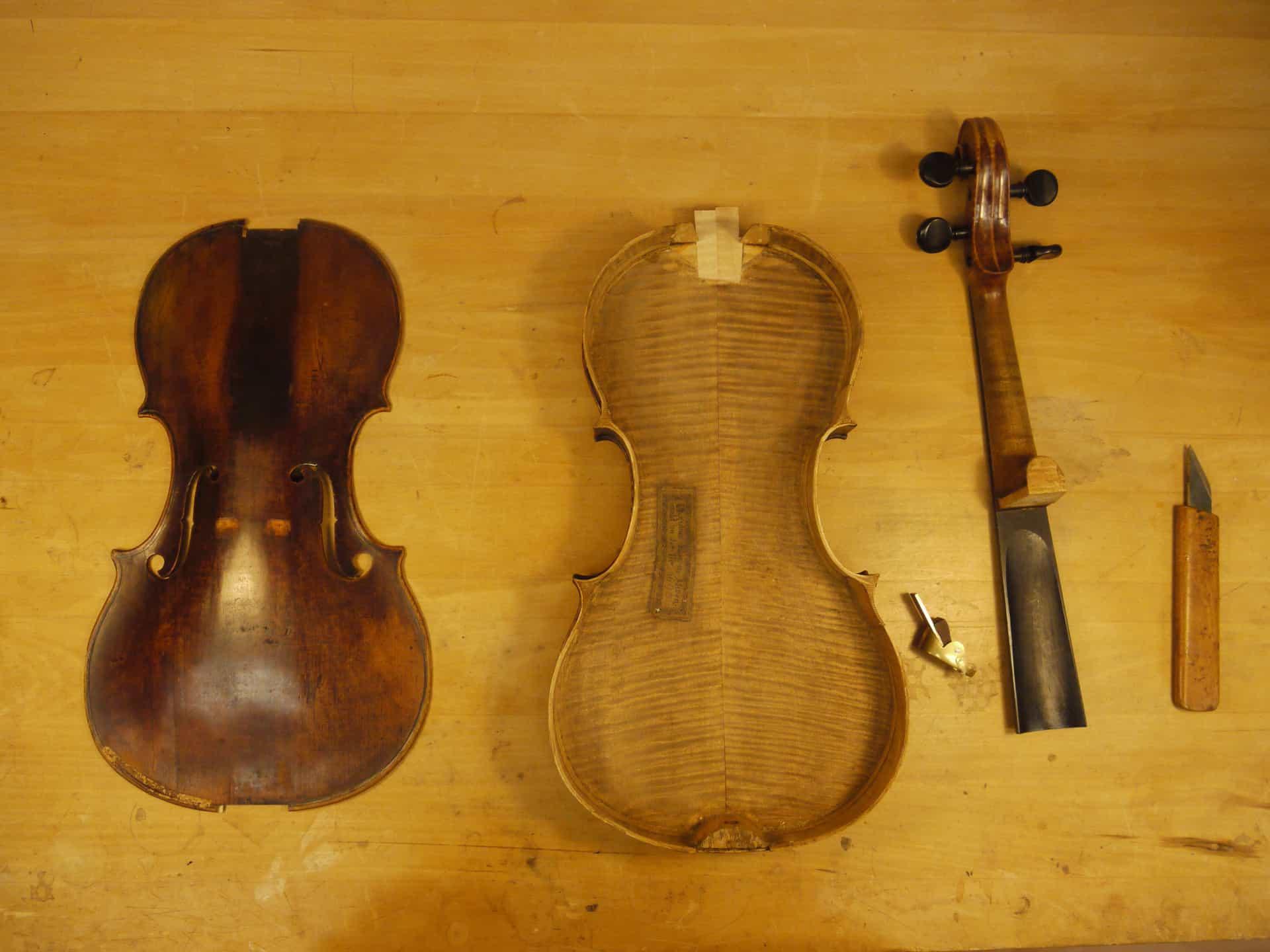 A violin restoration